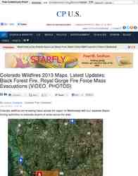 Colorado Wildfires 2013 Maps Latest Updates Black Forest: Christian Post